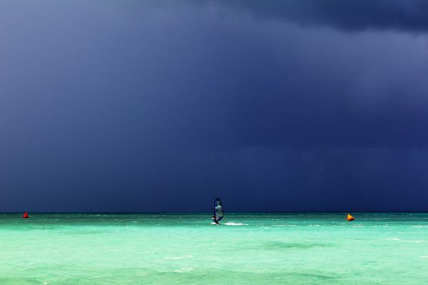 Moody skies in Aruba